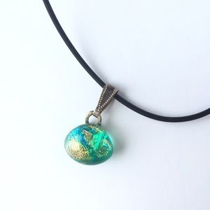 🔥5 for 25🔥 glass art necklace